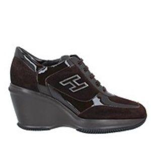 Hogan Heeled Sneakers- 7.5